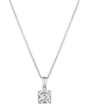 CRISLU Crislu Royal Asscher Cut Pendant Necklace, 16 in Silver
