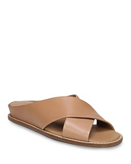Vince - Vince Women's Fairley Leather Slide Sandals
