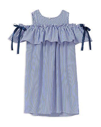 Habitual Kids - Girls' Edna Striped Cold-Shoulder Dress - Big Kid