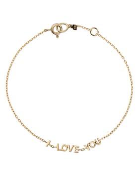 SUEL - 14K Yellow Gold I Love You Bracelet