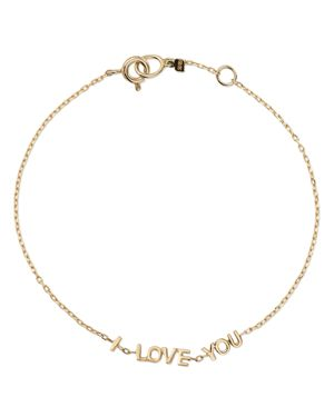 SUEL 14K YELLOW GOLD I LOVE YOU BRACELET