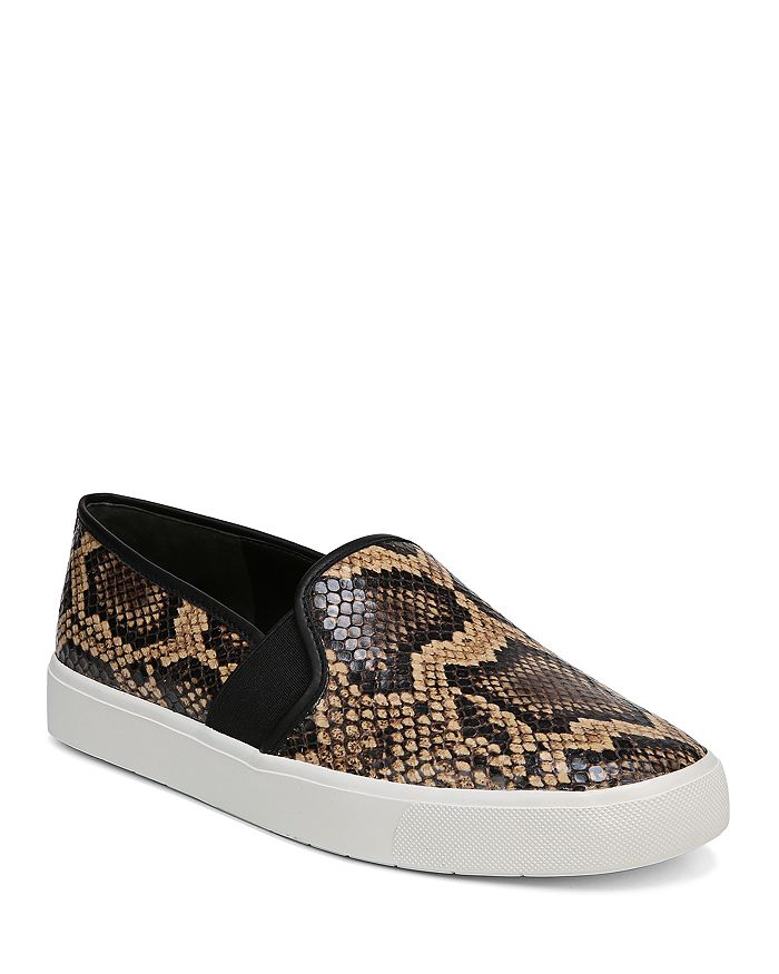 Vince - Women's Blair 5 Snake Print Leather Slip On Sneakers