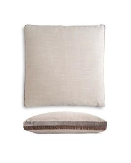 "Kevin O'Brien Studio - Double Tuxedo Stripe Decorative Pillow, 22"" x 22"""