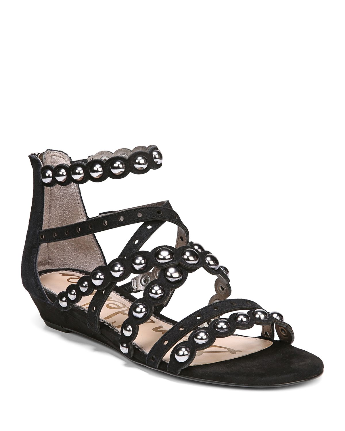 Sam Edelman Women's Dustee Studded Suede Gladiator Sandals