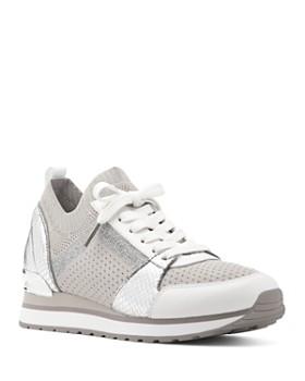 MICHAEL Michael Kors - Women's Billie Knit Trainer Lace Up Sneakers