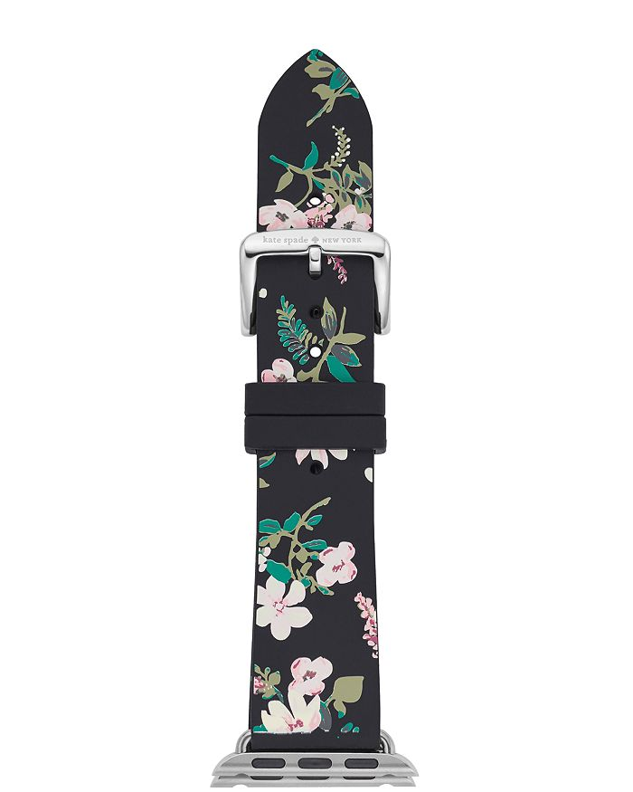 kate spade new york - Black Floral Print Silicone Band for Apple Watch®, 38mm & 40mm