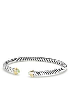 David Yurman - Cable Kids Birthstone Bracelet with Peridot & 14K Gold