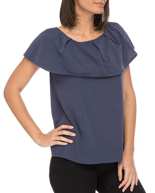 B Collection by Bobeau - Marti Overlay Tee