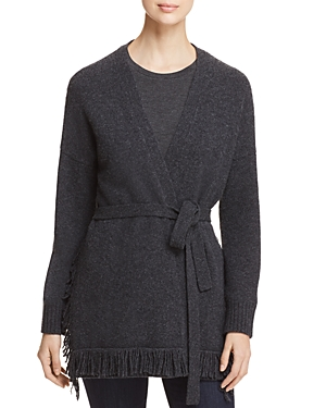 Weekend Max Mara Jajce Virgin Wool Fringed Cardigan