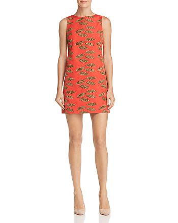 Alice and Olivia - Clyde Lips Print A-Line Shift Dress