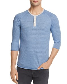 ALTERNATIVE Striped Three-Quarter Sleeve Raglan Henley - Bloomingdale's_0
