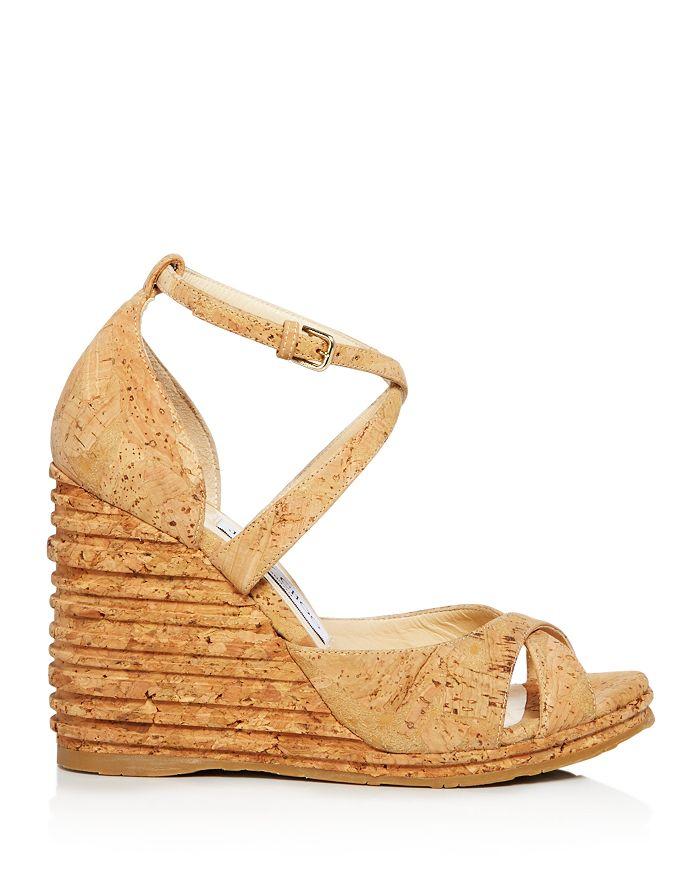 925a27bf0343 Jimmy Choo Women s Alanah 105 Cork Platform Wedge Sandals ...