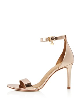 Tory Burch - Women's Ellie Leather High-Heel Ankle Strap Sandals