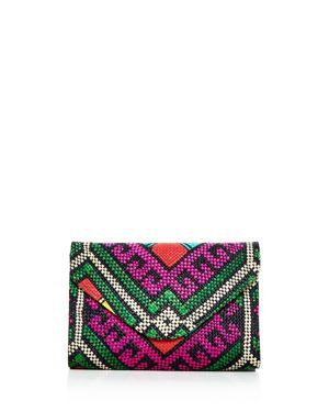 Bangago Multicolor Woven Envelope Clutch 2879295