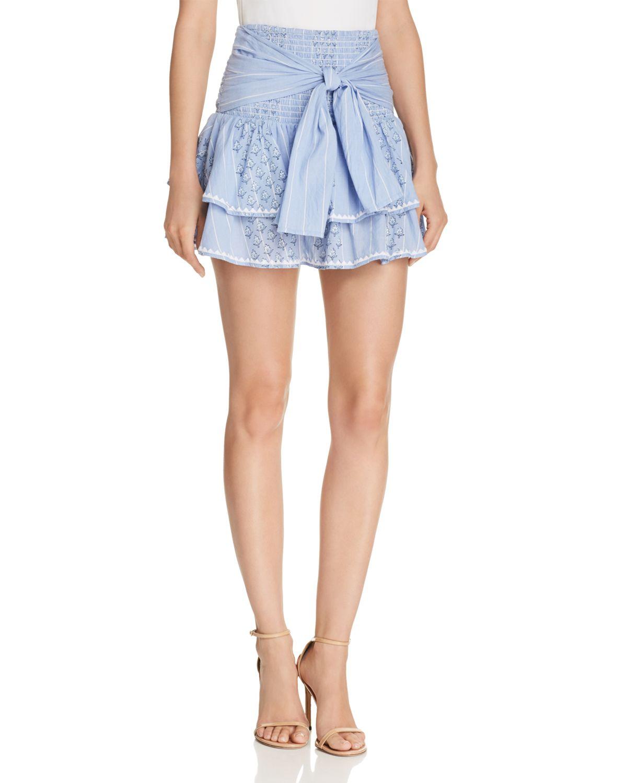 Printed Mini Skirt by Saylor