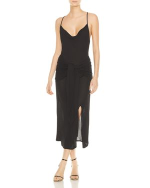 Haute Hippie Cabana Cowl-Neck Midi Dress 2978562