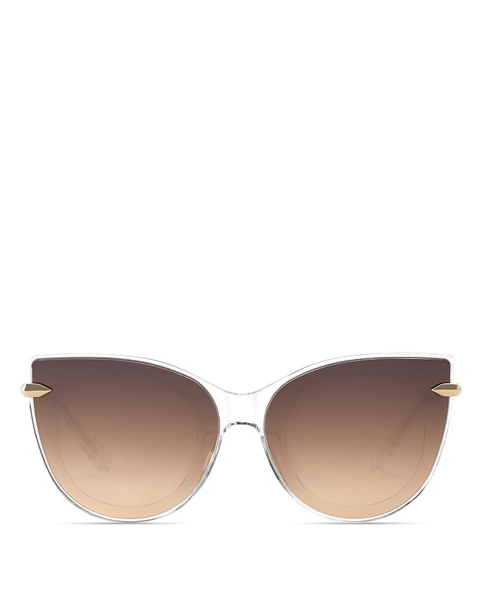 Krewe Sunglasses Women's Laveau 24K Mirrored Cat Eye Sunglasses, 62mm