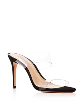 SCHUTZ - Women's Ariella Clear Strap High-Heel Slide Sandals