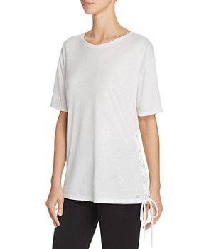 Alo Yoga -  Bliss Lace-Up Tee