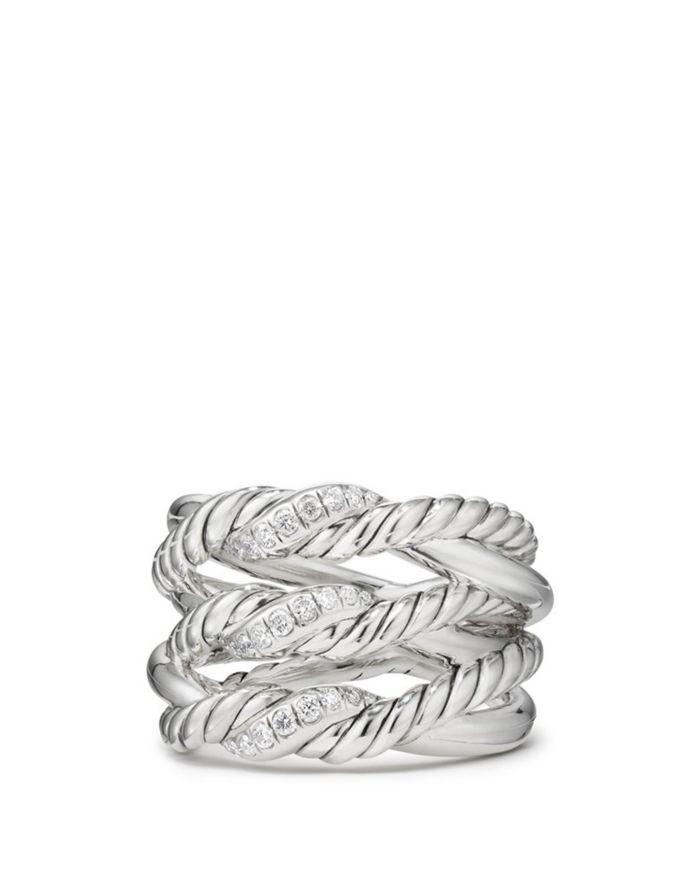 David Yurman Continuance Three-Row Ring with Diamonds    Bloomingdale's