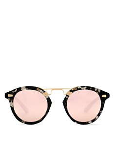 Krewe - Women's STL II 24K Mirrored Round Sunglasses, 48mm