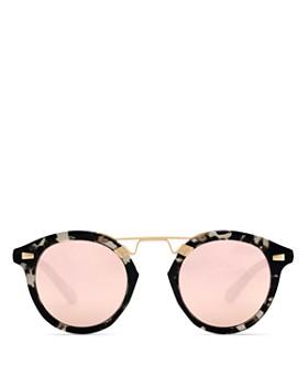 Krewe - Women's STL II 24K Mirrored Round Sunglasses, 48mm