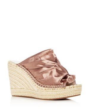 Women'S Odele Espadrille Wedge Slide Sandals, Blush