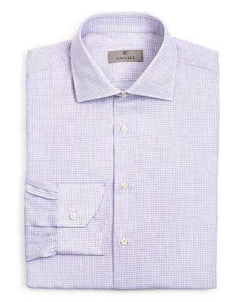 Canali - Micro Check Regular Fit Dress Shirt