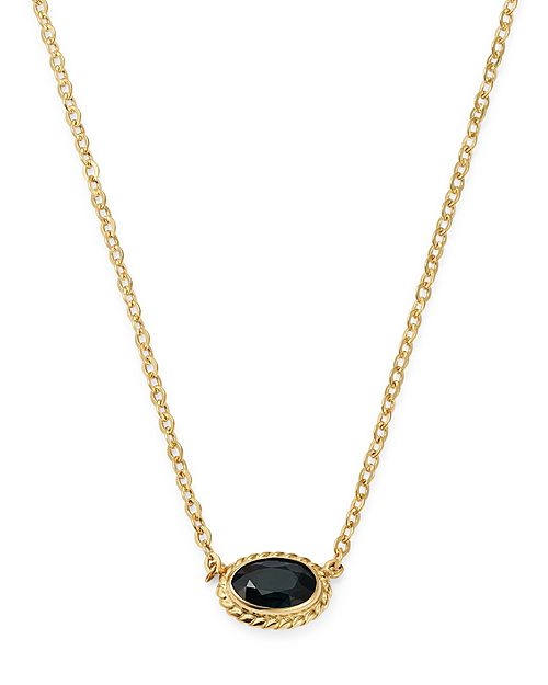 Bloomingdale's - Blue Sapphire Oval Pendant Necklace in 14K Yellow Gold - 100% Exclusive