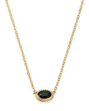 Bloomingdale's Blue Sapphire Oval Pendant Necklace in 14K Yellow Gold - 100% Exclusive