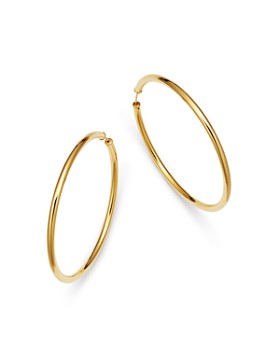 Moon & Meadow - Endless Hoop Earrings in 14K Yellow Gold - 100% Exclusive