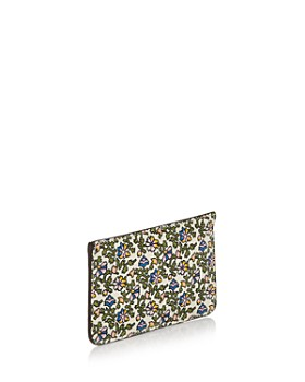 Tory Burch - Color-Block Top-Zip Leather Card Case