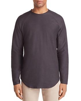 Vitaly - Scalloped Hem Crewneck Shirt