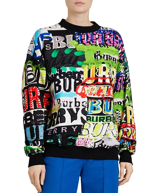 Burberry - Aner Graffiti Logo Sweatshirt