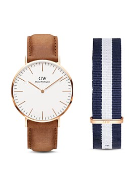 Daniel Wellington - Classic Durham Watch, 40mm with NATO Strap Gift Set