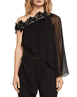 BCBGMAXAZRIA - Joel Asymmetric One-Shoulder Top