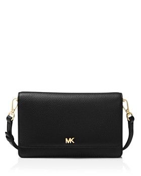 2ac6ae69cf1c MICHAEL Michael Kors - Leather Smartphone Crossbody ...