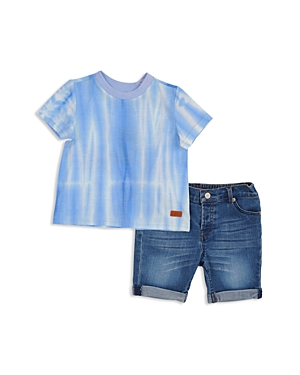 7 For All Mankind Boys TieDyed Tee  Cuffed Shorts Set  Little Kid