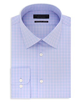 The Men's Store at Bloomingdale's - Windowpane Regular Fit Stretch Dress Shirt - 100% Exclusive