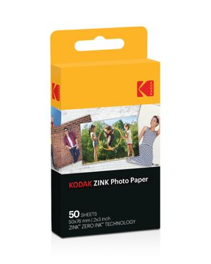 KODAK ZINK PHOTO PAPER, PACK OF 50