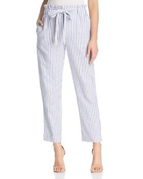 BeachLunchLounge - Striped Tie-Waist Crop Pants