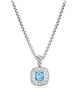 David Yurman - Albion Kids Necklace with Blue Topaz & Diamonds