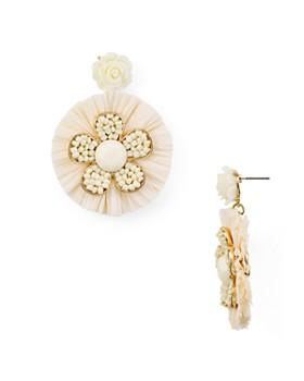 AQUA - Raffia Floral Drop Earrings - 100% Exclusive