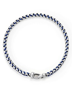 David Yurman - Woven Box Chain Bracelet in Blue