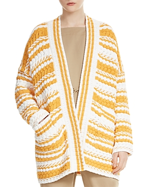 Maje Milio Mixed-Stitch Cardigan