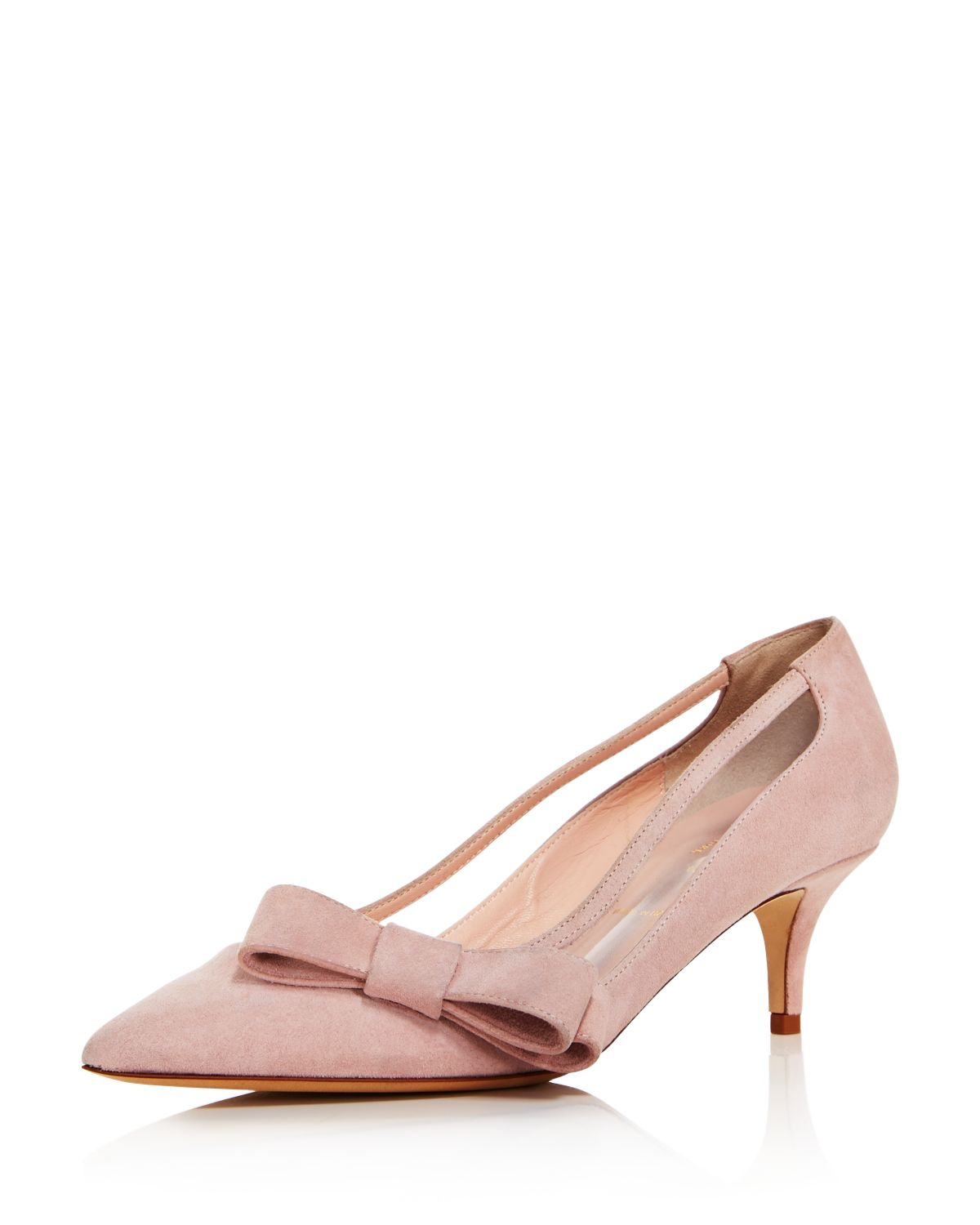 kate spade new york Mackenzie Suede Bow Mid-Heel Pumps $278 (Bloomingdales)