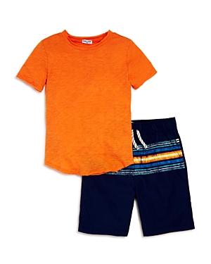 Splendid Boys Tee  Printed Shorts Set  Little Kid