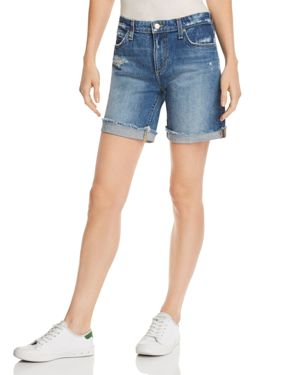 Joe'S The Bermuda Cuffed Denim Shorts, Lannah