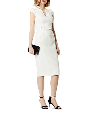 Karen Millen Belted Puff-Sleeve Sheath Dress