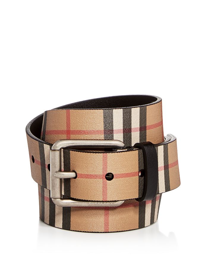 b8f3616bd24c Burberry Men's Mark Vintage Check Leather Belt | Bloomingdale's